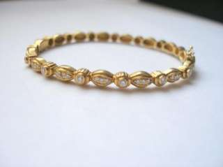 Estate Doris Panos 18k yellow gold diamond bracelet
