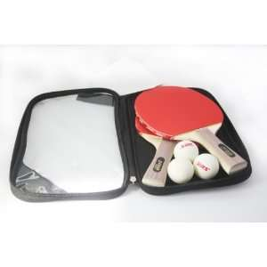 Table Tennis / Ping Pong Racket with 3 Balls Included  Penhold Sports