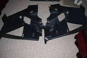 BLACK INTERIOR QUARTER PANELS 87 93 REAR PLASTIC TRIM PANELS