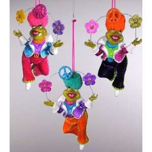 Katherines Collection juggling peace frog Christmas