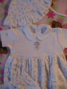 NWT *Kissy Kissy* Baby Girl Layette Outfit Flower Dress, Bloomer