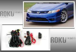 06 07 08 HONDA CIVIC COUPE SMOKE BUMPER FOG LIGHTS KIT