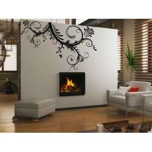 Floral Branches Wall Art Decal Sticker
