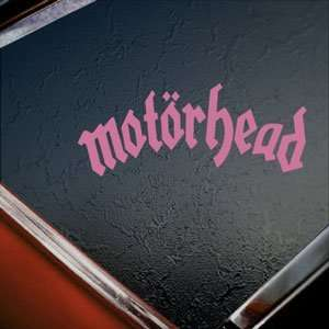 Motorhead Pink Decal Lemmy Metal Rock Band Window Pink