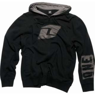 One Industries Mens OVERSPRAY Zip Hoodie Sweatshirt Black New 2011