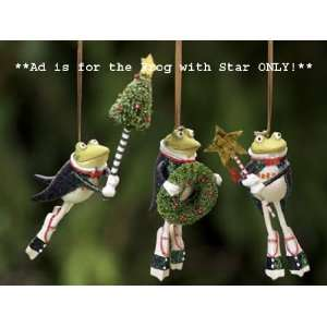 Patience Brewster Krinkles Frog with Star Christmas Ornament
