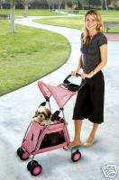 Outward Hound Pink PET STROLLER for pets to 20Ibs