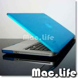 Rubberized Aqua BLUE Hard Case Cover for Macbook PRO 13