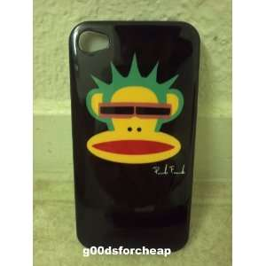Iphone 4S 4 Monkey Hard TPU Case BLACK Color USA Seller