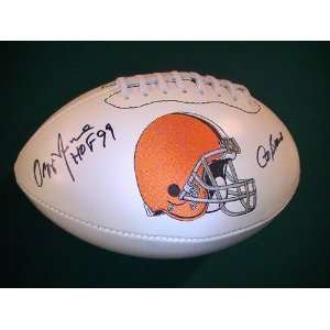 Ozzie Newsome Signed Autographed Football Cleveland Browns Coa