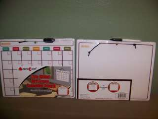 Two Sided Dry Erase Calendar Board Great for Home or Office 11 x 14