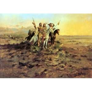 Hand Made Oil Reproduction   Charles Marion Russell   32 x