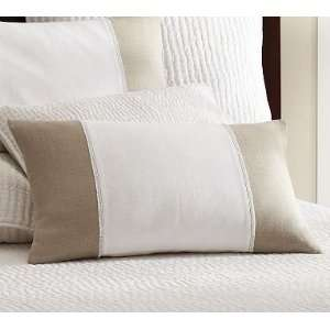 Pottery Barn Fringed Linen Lumbar Pillow Cover: Home