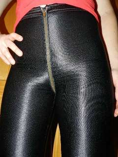 VTG spandex DISCO Le Gambi SHINY FULL ZIPPER pants trousers ROCKER
