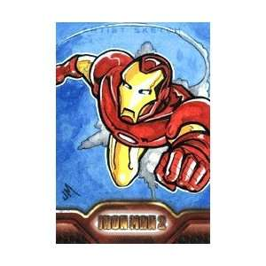 Iron Man 2   Color Sketch Card of Iron Man by Jake Minor