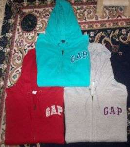GAP LOGO ZIP HOODIE SWEATSHIRT JACKET WOMENS SZ XL EUC