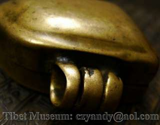 Amazing Sacred Old Antique Tibet Buddhist Copper Gau Shrine Niche Box