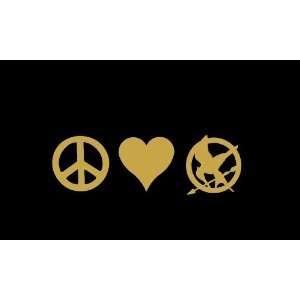 Peace Love Mockingjay Symbol Hunger Games Car Window Decal