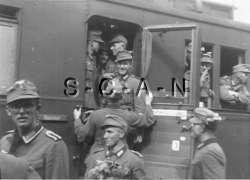WWII Large RP  Gebirgsjäger  Elite Mountain Troops  Train  Passenger