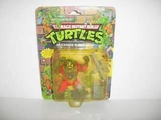 TMNT Turtles 1990 MUCKMAN & JOE EYEBALL Ghoul Figure MOC a