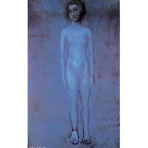 Pablo Picasso   32 x 52 inches   Muchacha joven desnuda de pie: Home
