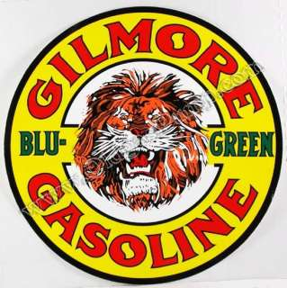 GILMORE BLU GREEN GASOLINE 12 VINYL GAS & OIL PUMP DECAL DC 150