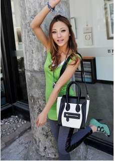 Women Smiling Face Gossip Girl Handbag Shoulder Bag 380