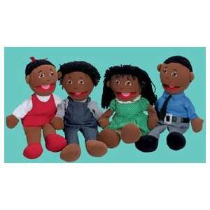 Full Bodied Open Mouth Puppets   Black Family Office