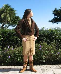 Step out in Western wear style in this high quality chocolate brown