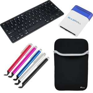 GTMax Neoprene Sleeve Case + Bluetooth Wireless Fullsize