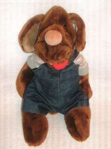 HERRITAGE COLLECTION WRINKLES HAND PUPPET DOG PLUSH