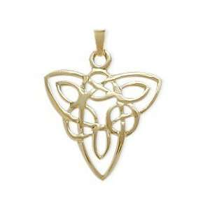10 Karat Yellow Gold Celtic Style Knot Pendant with 20 chain Jewelry