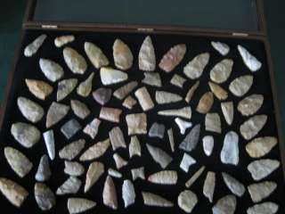 GREAT 80 PIECE OLIVE BRANCH DALTON COLLECTION INDIAN ARROWHEAD INDIAN