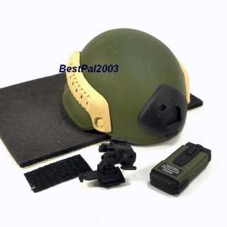Scale Toys City US Army Green Beret ODA721 Helmet Set MICH 2002