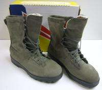 BELLEVILLE 600ST USAF SAGE GREEN HOT WEATHER SAFETY COMBAT BOOTS SIZE