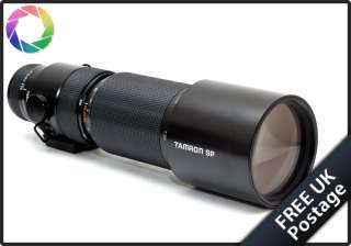 Tamron SP 200 500mm f5.6 31A Adaptall 2 Zoom lens Boxed case near mint
