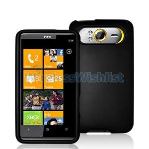 Black Hard Skin Case Cover Accessory for HTC HD7 HD7S