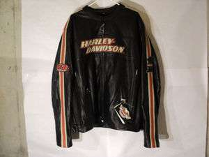 New HARLEY DAVIDSON MENS 3XL Tall BLACK LEATHER Torque JACKET 98114