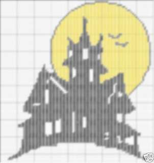 Haunted House 2 Plastic Canvas Pattern PC0568