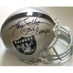 Ken Stabler Signed Raiders Authentic Mini Helmet   SB XI