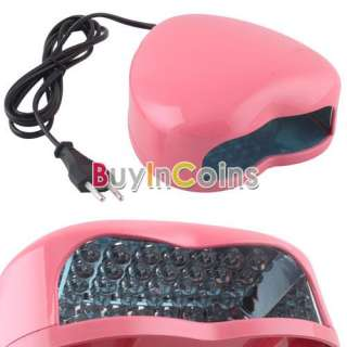 220V Nail Art Heart Shape Lamp Light Top LED UV Gel Salon Design Cure