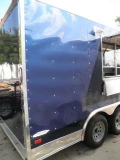 NEW 8.5 x 16 BLUE BBQ CONCESSION FOOD SNACK EVENT TRAILER |