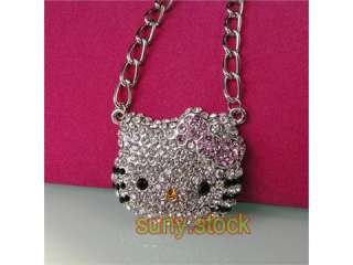 beautiful HOT hello kitty crystal pendant necklace L84