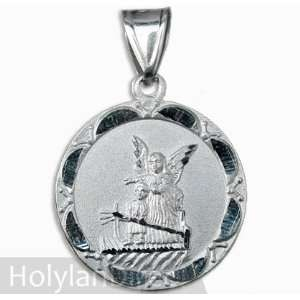 Sterling Silver Medal My Guardian Angel (925 Pendant