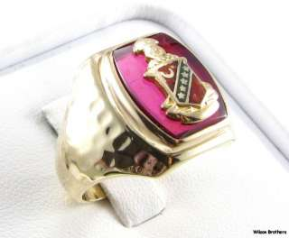 KAPPA SIGMA Fraternity   Crest Solid 10k YELLOW GOLD Estate MENS RING