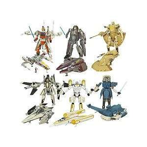 Star Wars Clone Wars Transformers Wave 7 Figures Toys & Games