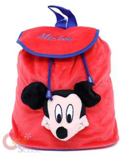 Disney Mickey Mouse Plush Backpack Bag w/Plush Doll 10