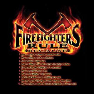 FD FIREFIGHTERS RULE BECAUSE FIRE DEPARTMENT T SHIRTS