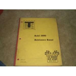 thermo King model XNWD Maintenance Manual thermo king Books