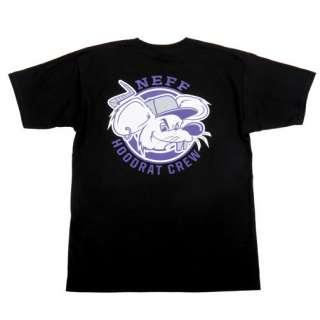 BRAND NEW WITH TAGS 2012 Neff HOODRAT Tee Shirt BLACK Medium XXLarge